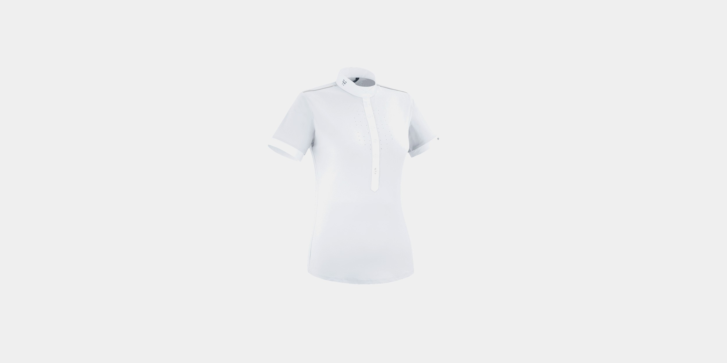 Sleeveless riding competition shirt for women